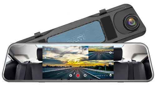 Campark Backup Camera R5 Mirror Dash Cam