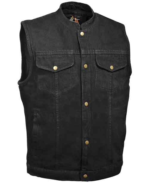 Bikers Edge Men's SOA Anarchy Style Denim Vest