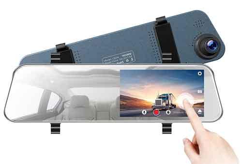 TOGUARD Backup Camera 5 LCD Mirror Dash Cam