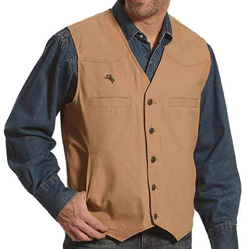 Wyoming Traders Mens Canvas Concealed Carry Vest