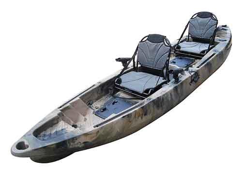BKC 12.9 Inch Tandem Fishing Kayak