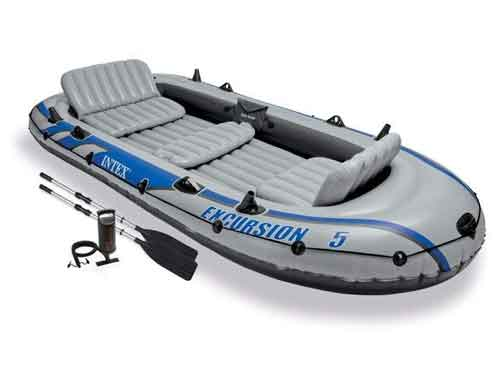 Intex Excursion 5 Inflatable Boat with Motor Mount